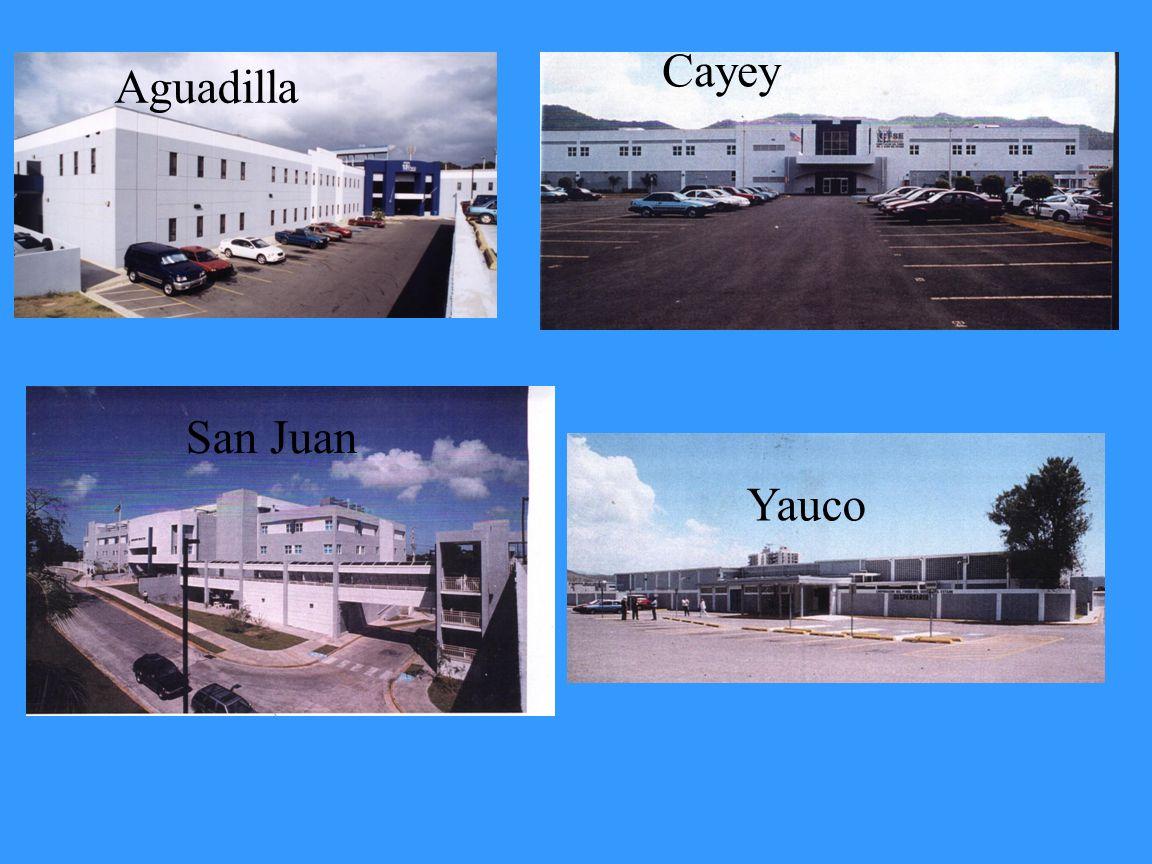 Cayey Aguadilla San Juan Yauco