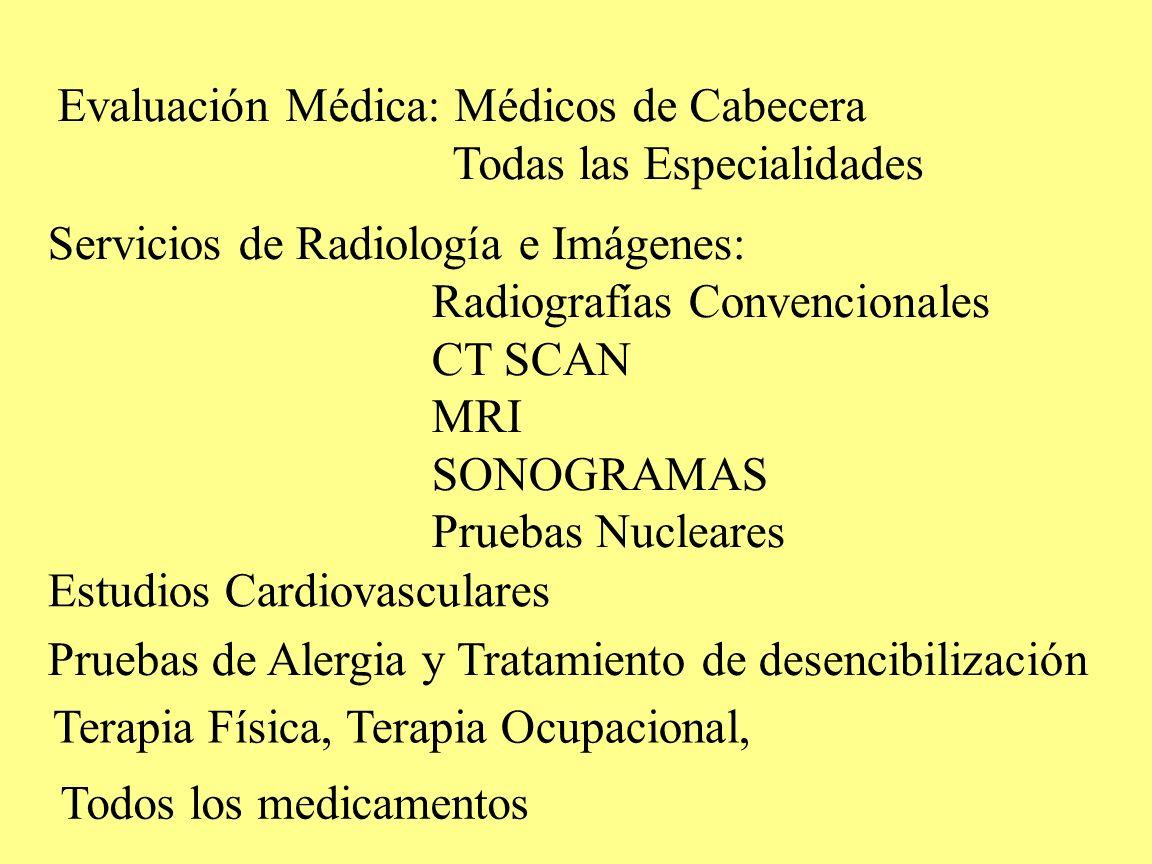 Evaluación Médica: Médicos de Cabecera