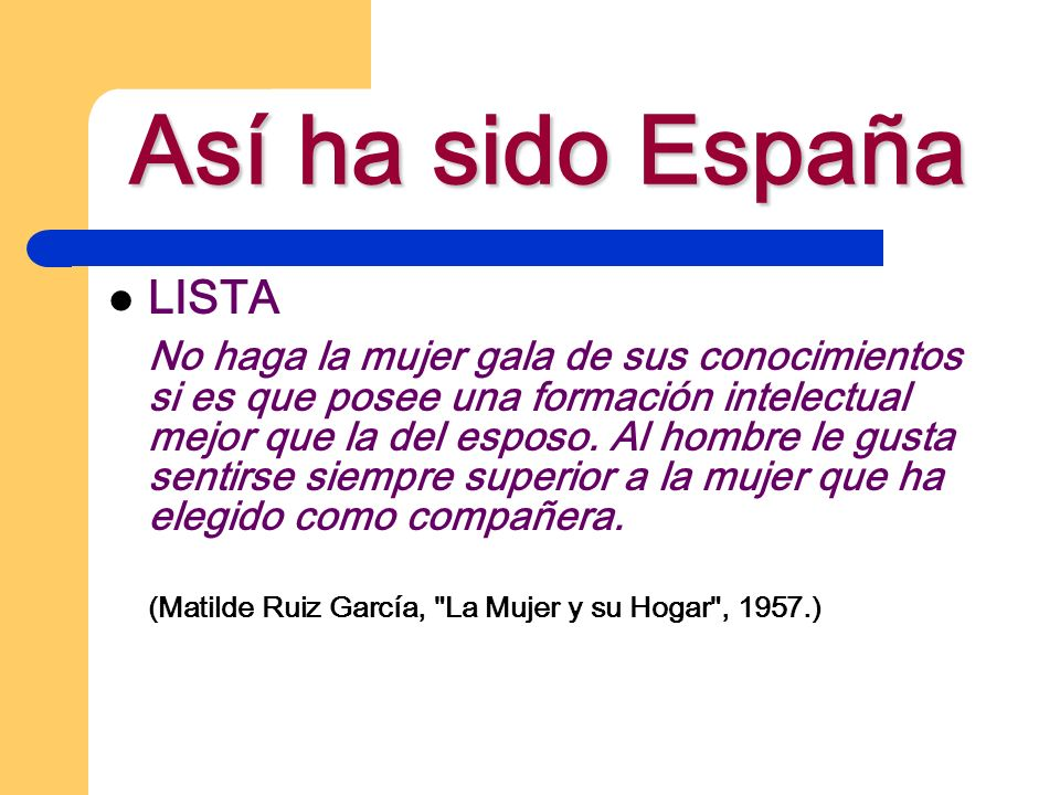 Así ha sido España LISTA