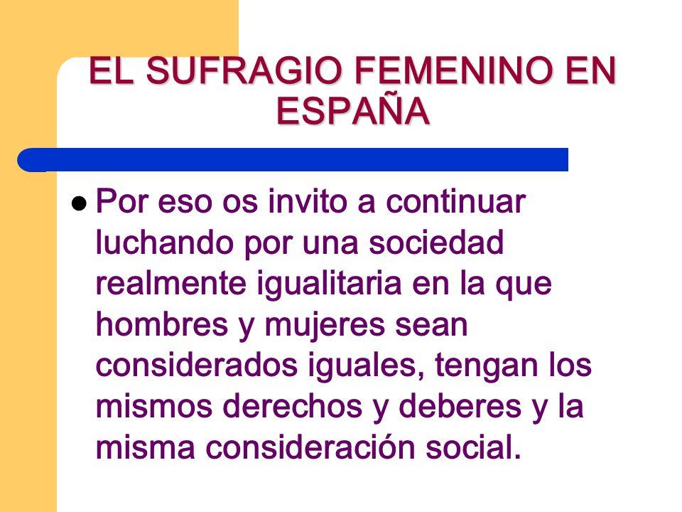 EL SUFRAGIO FEMENINO EN ESPAÑA