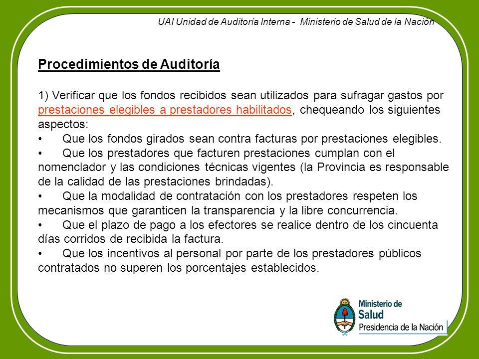 UAI Unidad de Auditoría Interna - Ministerio de Salud de la Nación