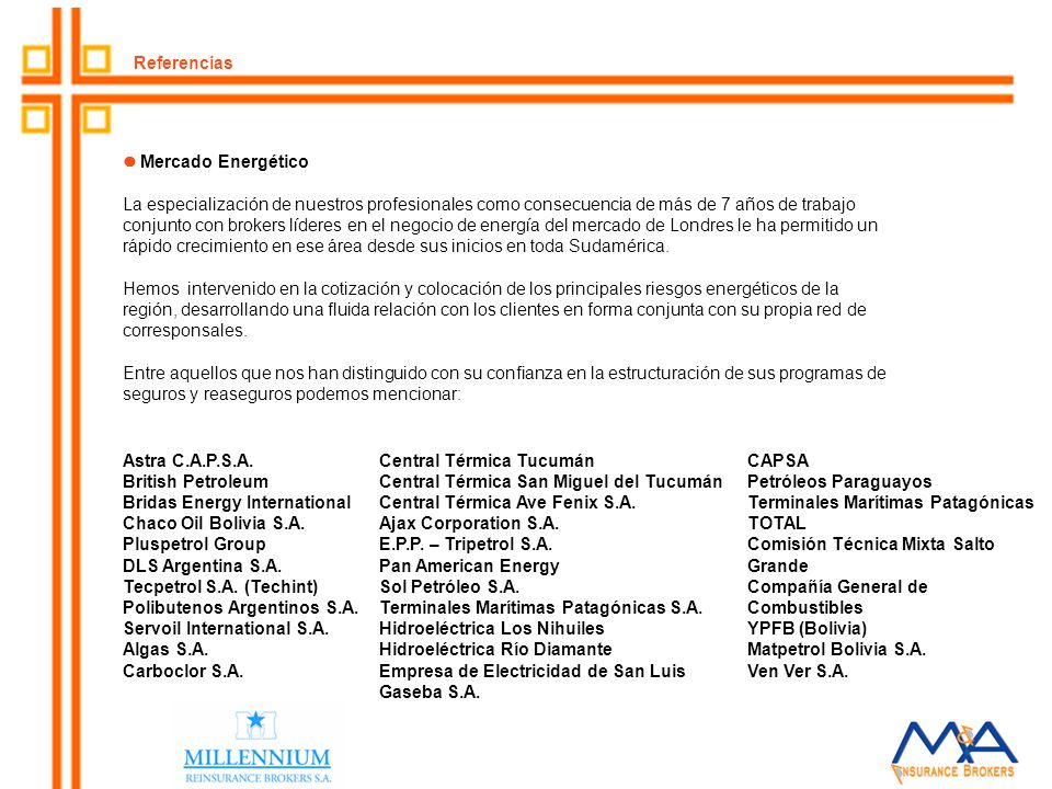 Referencias  Mercado Energético.