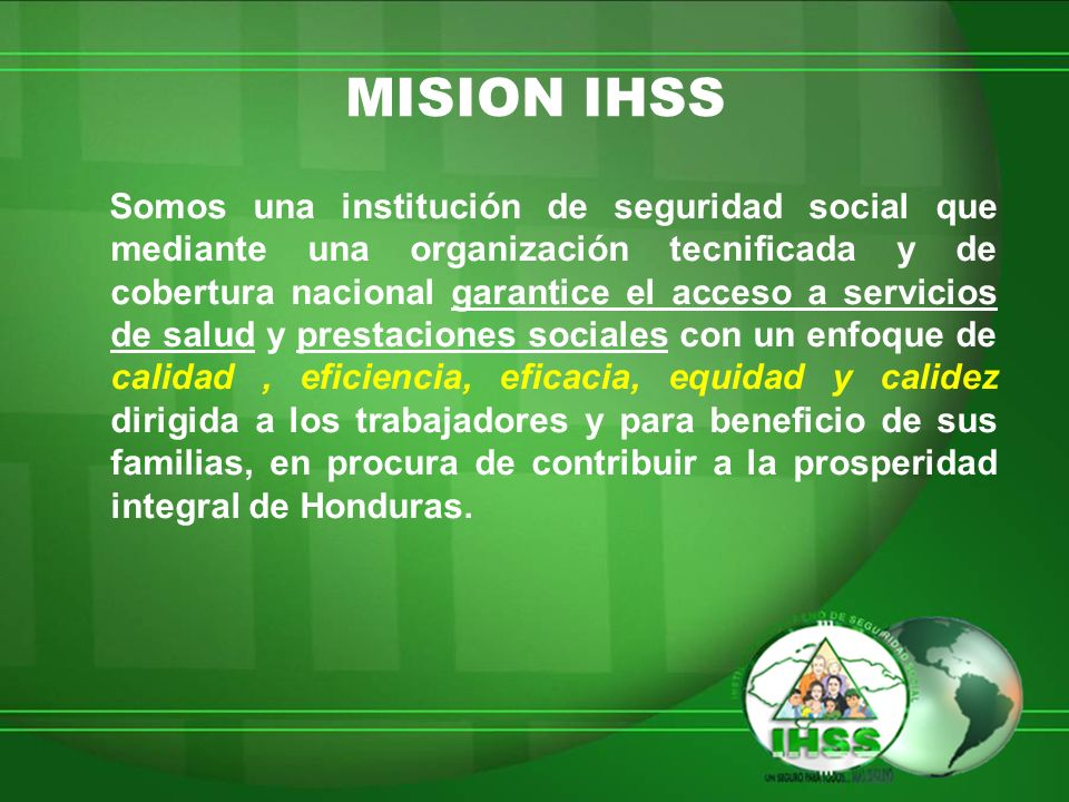 MISION IHSS
