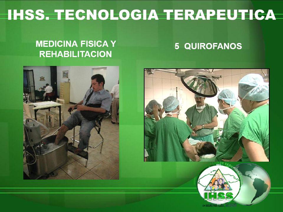 IHSS. TECNOLOGIA TERAPEUTICA MEDICINA FISICA Y REHABILITACION