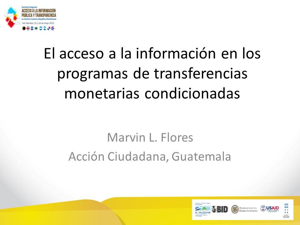 Marvin L. Flores Acción Ciudadana, Guatemala