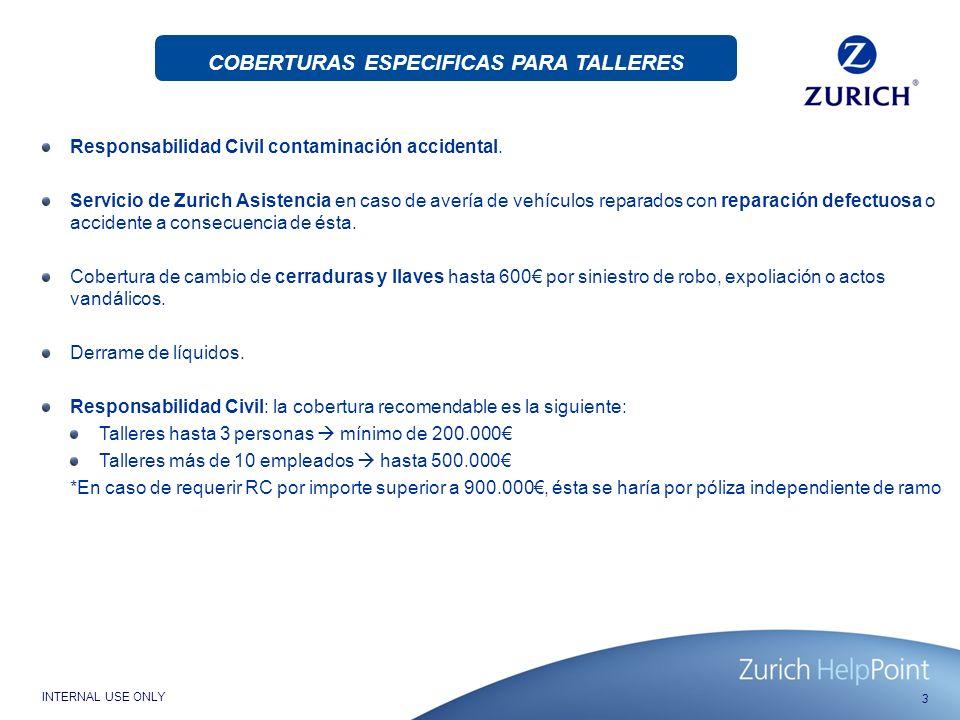 COBERTURAS ESPECIFICAS PARA TALLERES