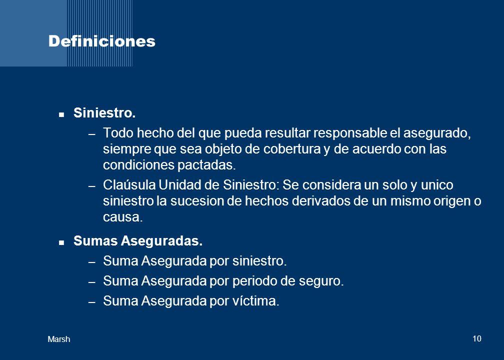 Definiciones Siniestro.