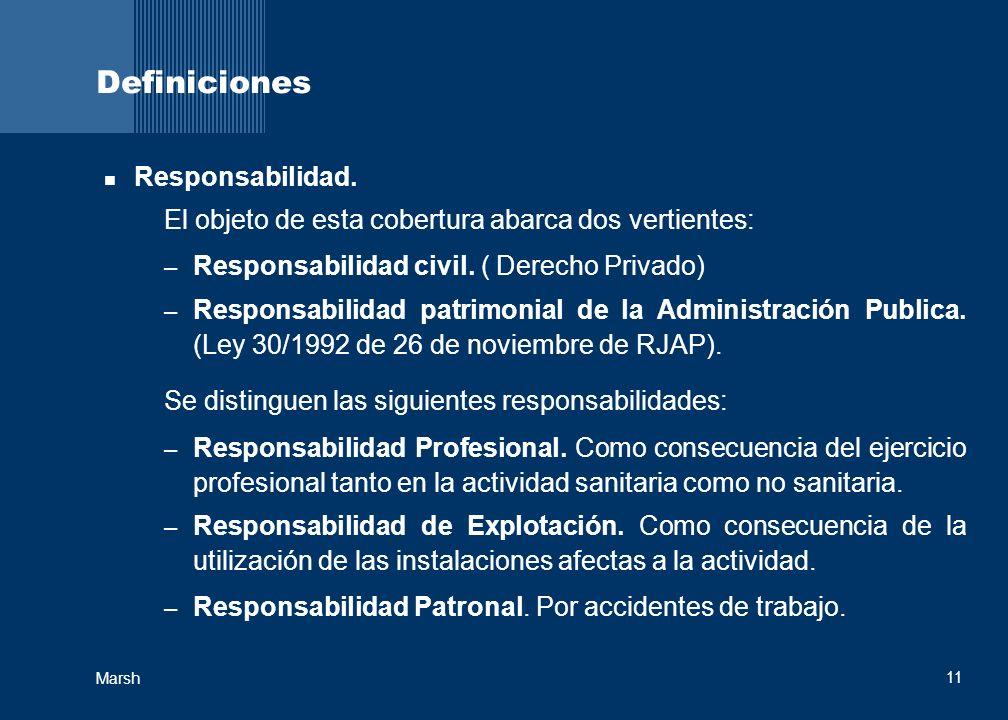 Definiciones Responsabilidad.