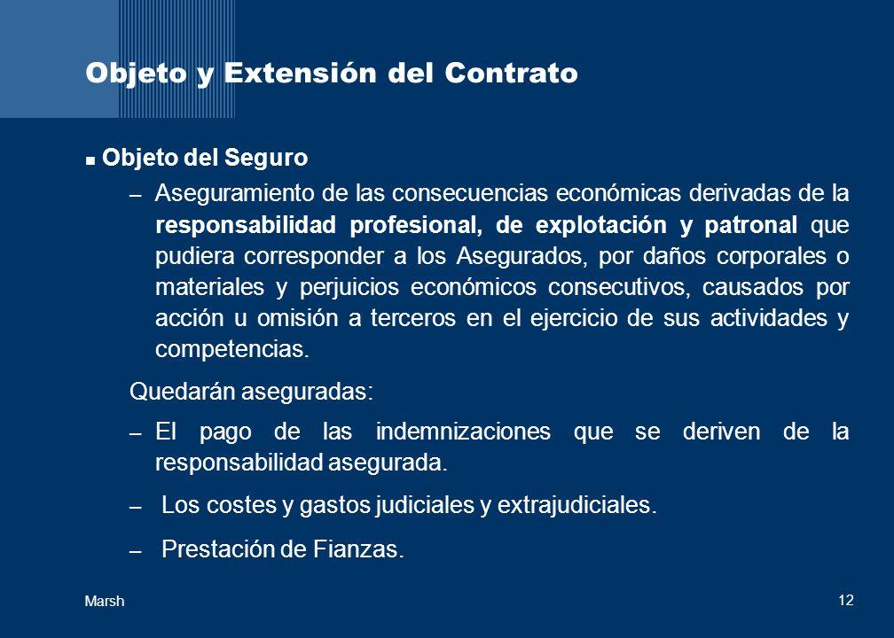Objeto y Extensión del Contrato
