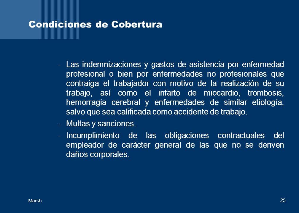 Condiciones de Cobertura