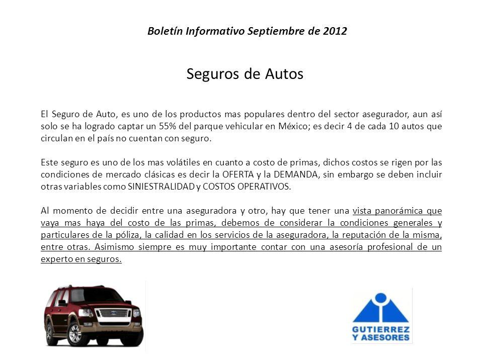 Boletín Informativo Septiembre de 2012
