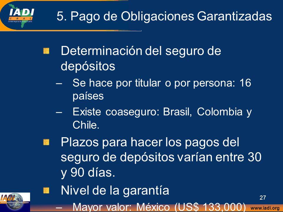 5. Pago de Obligaciones Garantizadas