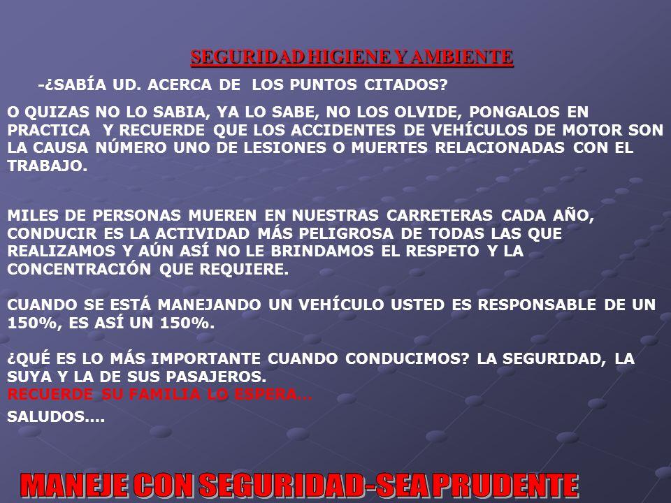 -¿SABÍA UD. ACERCA DE LOS PUNTOS CITADOS
