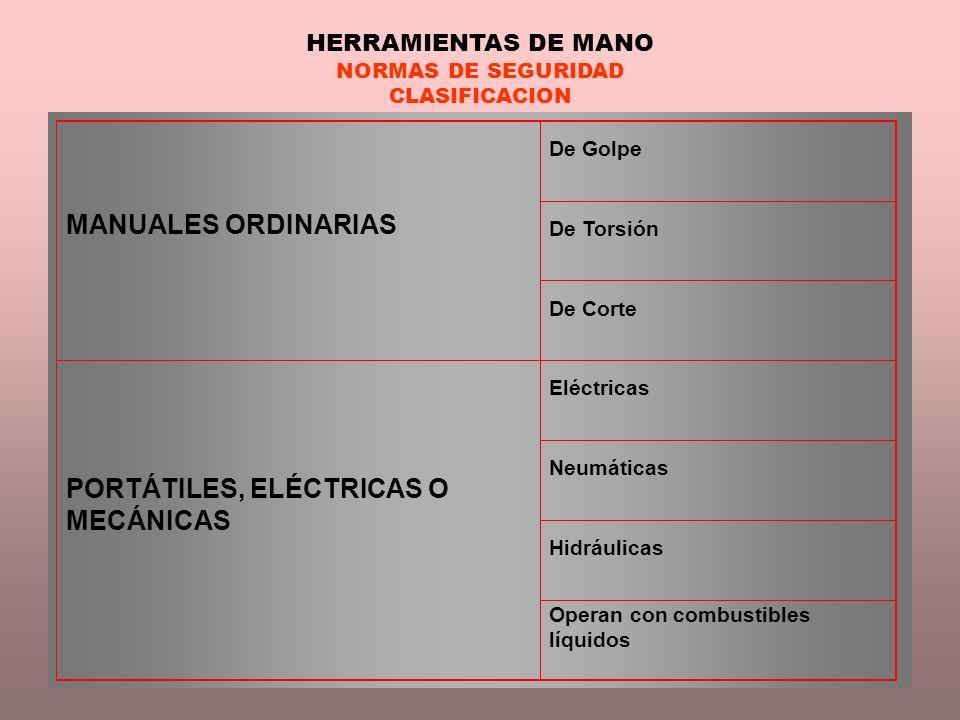 PORTÁTILES, ELÉCTRICAS O MECÁNICAS