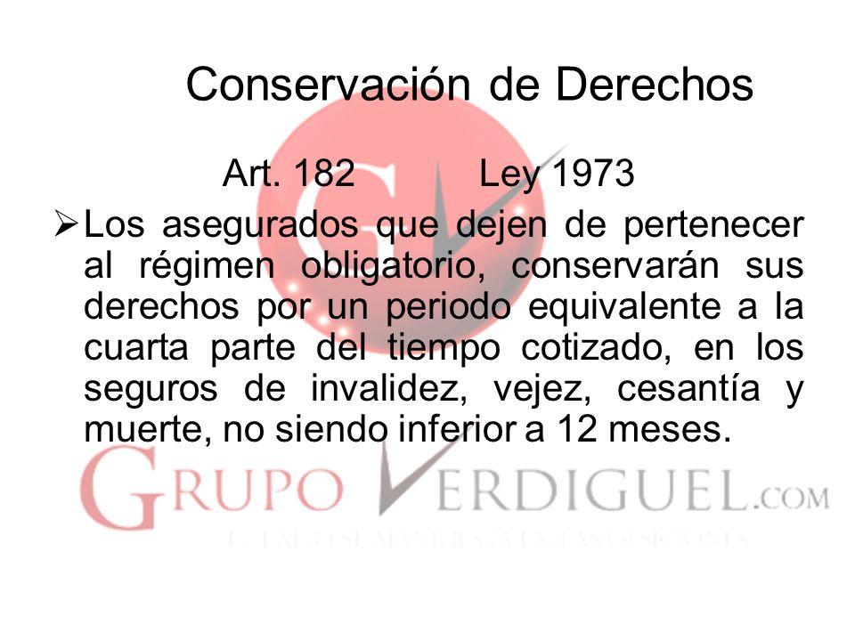 Conservación de Derechos