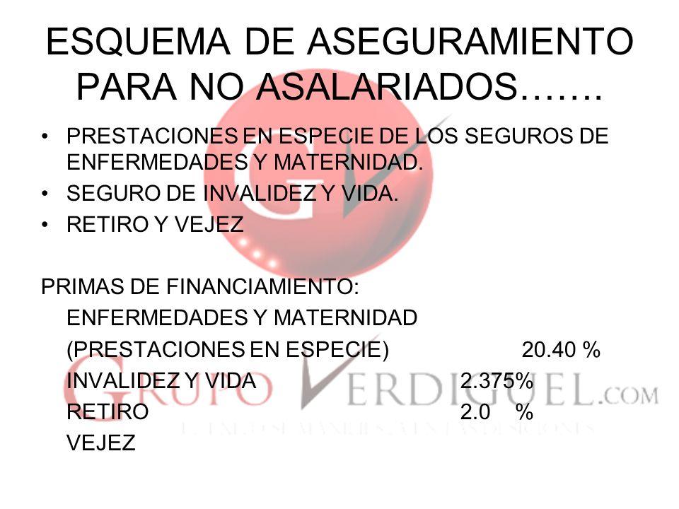 ESQUEMA DE ASEGURAMIENTO PARA NO ASALARIADOS…….