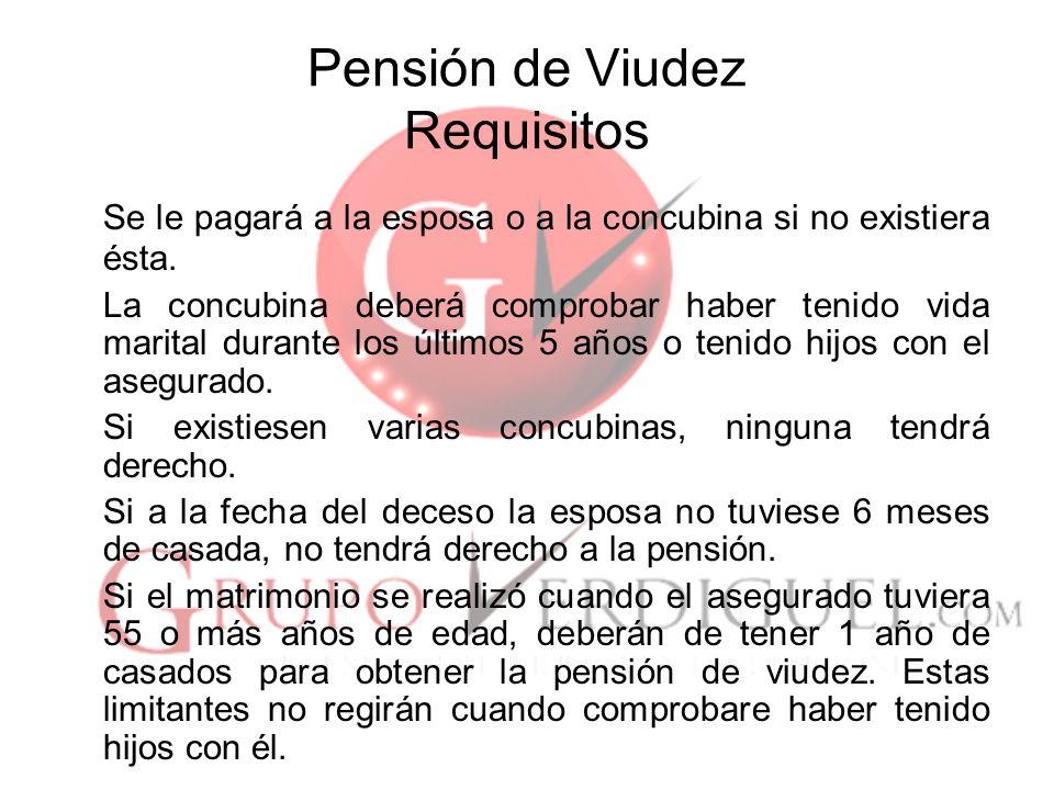 Pensión de Viudez Requisitos
