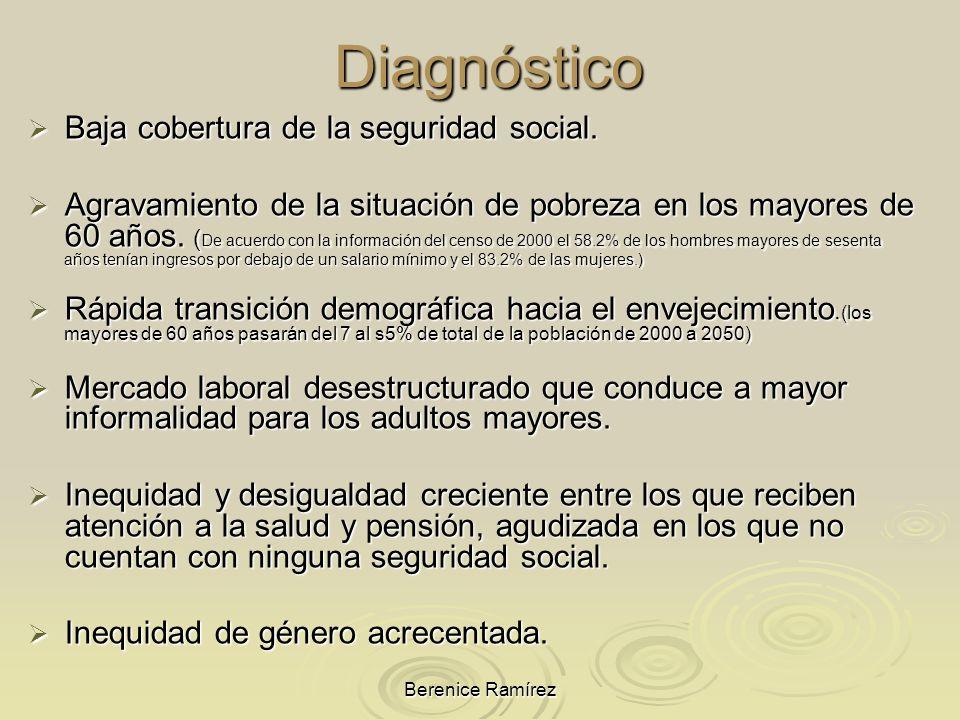 Diagnóstico Baja cobertura de la seguridad social.
