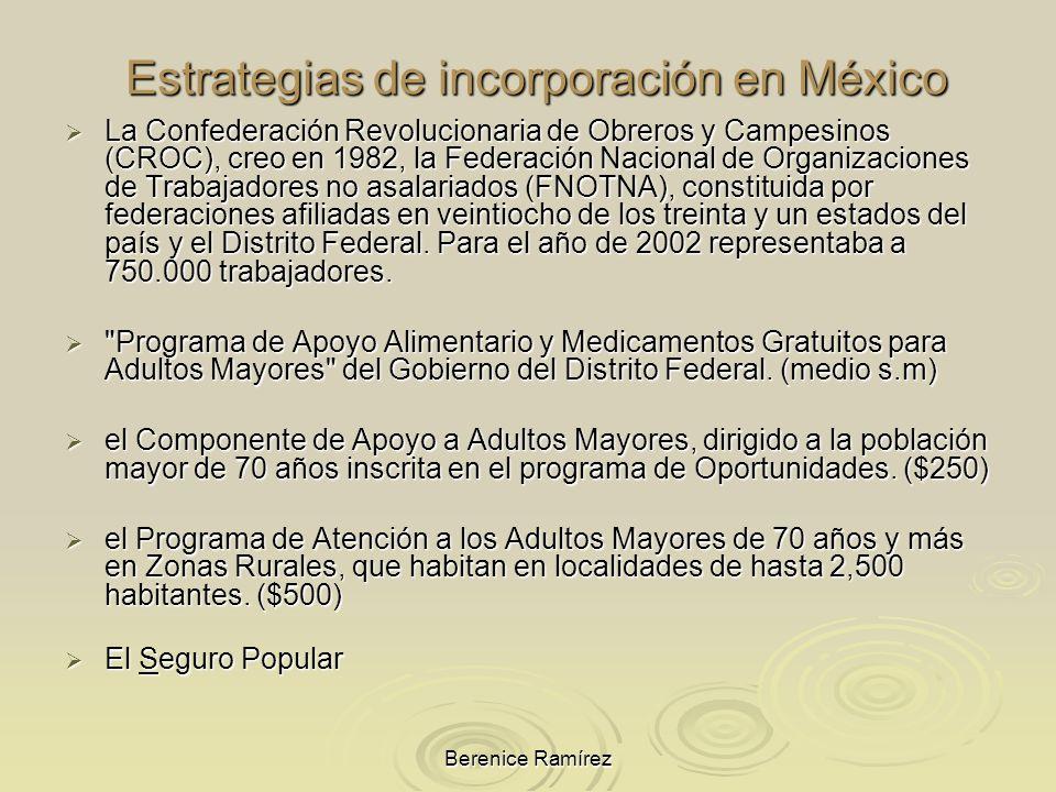 Estrategias de incorporación en México