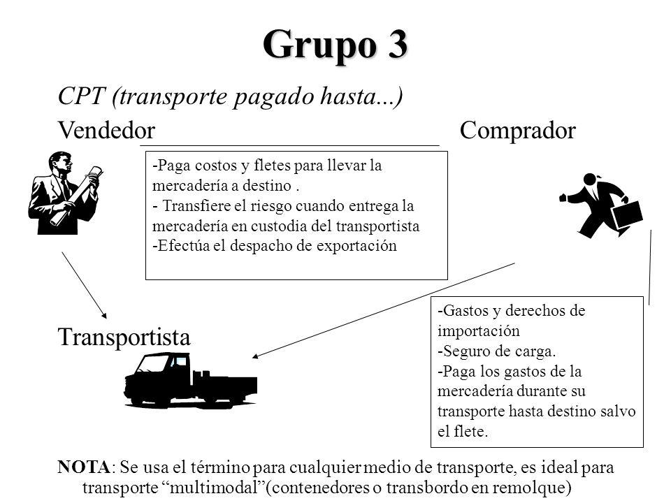 Grupo 3 CPT (transporte pagado hasta...) Vendedor Comprador