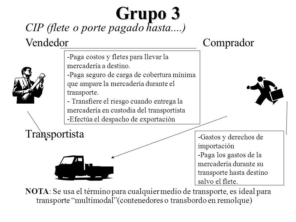 Grupo 3 CIP (flete o porte pagado hasta....) Vendedor Comprador