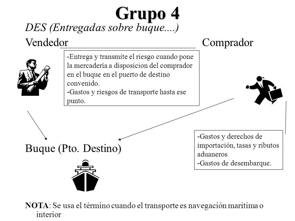Grupo 4 DES (Entregadas sobre buque....) Vendedor Comprador