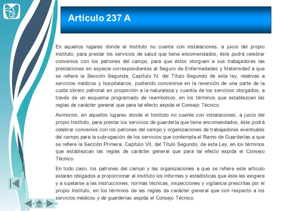 Artículo 237 A