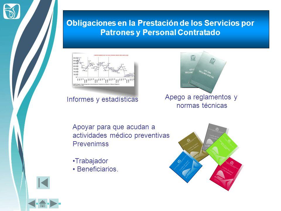 Obligaciones en la Prestación de los Servicios por Patrones y Personal Contratado