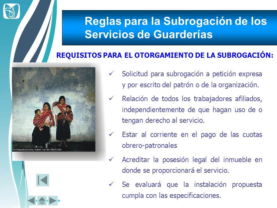 Reglas para la Subrogación de los Servicios de Guarderías
