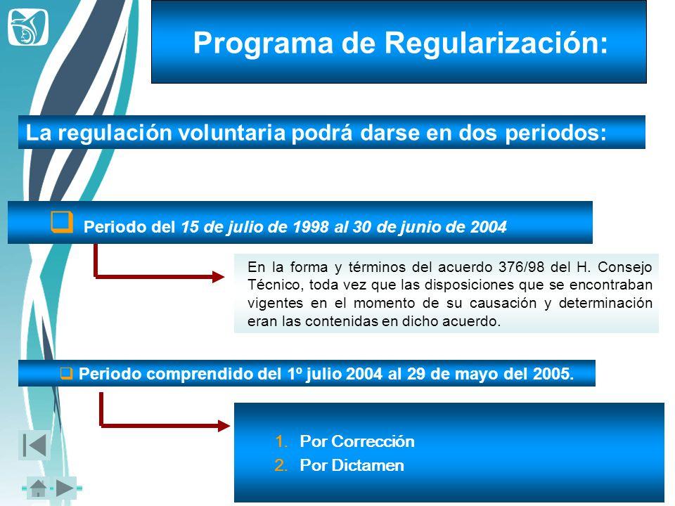 Programa de Regularización: