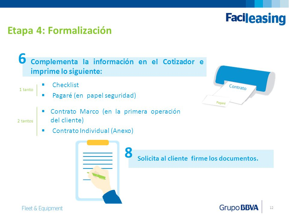 Etapa 4: Formalización 6. Complementa la información en el Cotizador e imprime lo siguiente: Checklist.