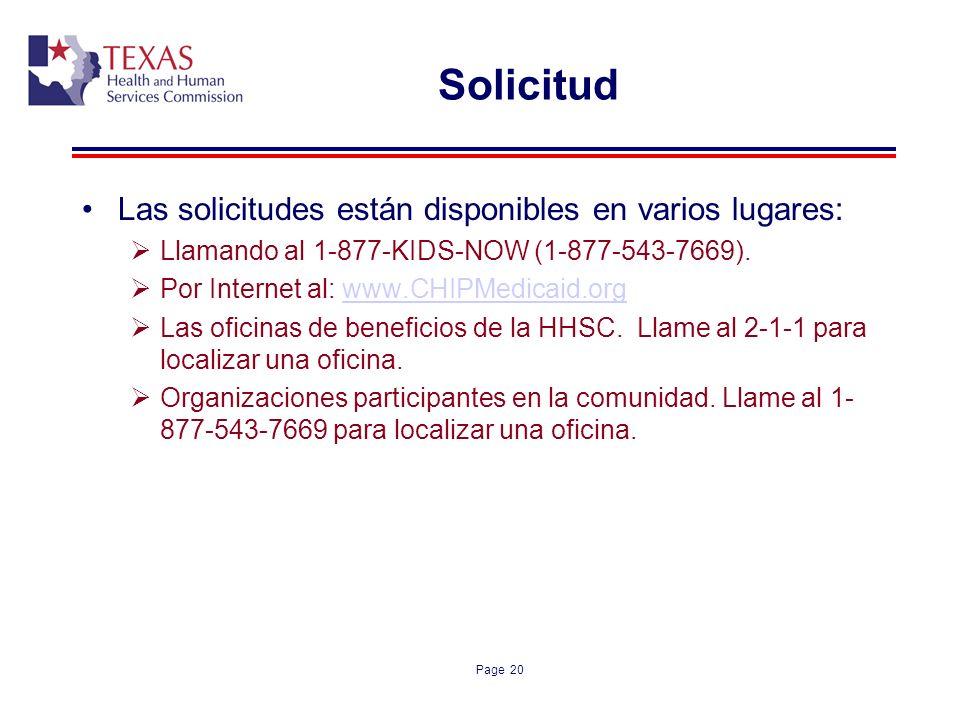 Solicitud Las solicitudes están disponibles en varios lugares: