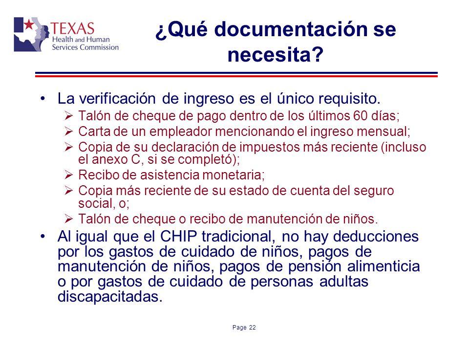 ¿Qué documentación se necesita