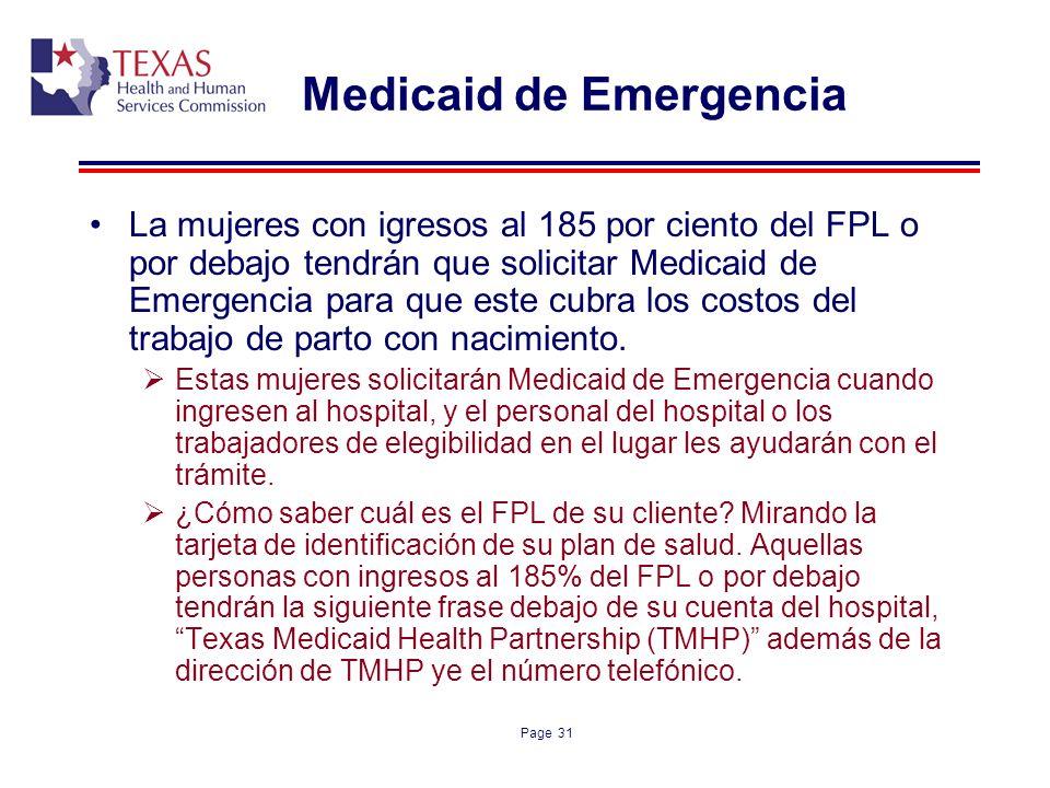 Medicaid de Emergencia