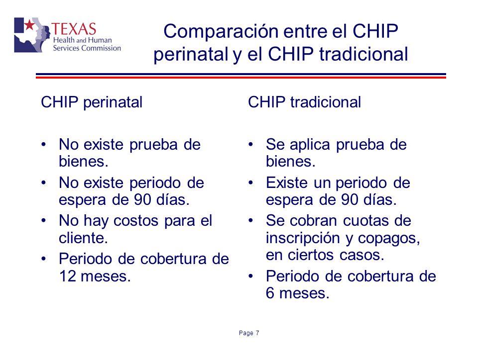 Comparación entre el CHIP perinatal y el CHIP tradicional