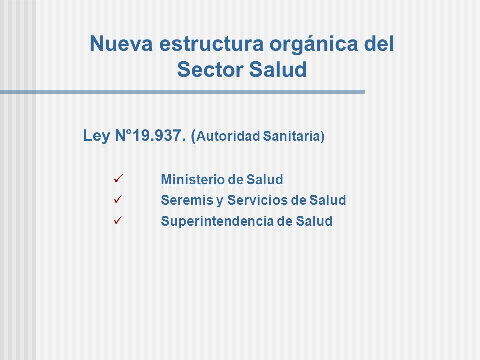 Nueva estructura orgánica del Sector Salud