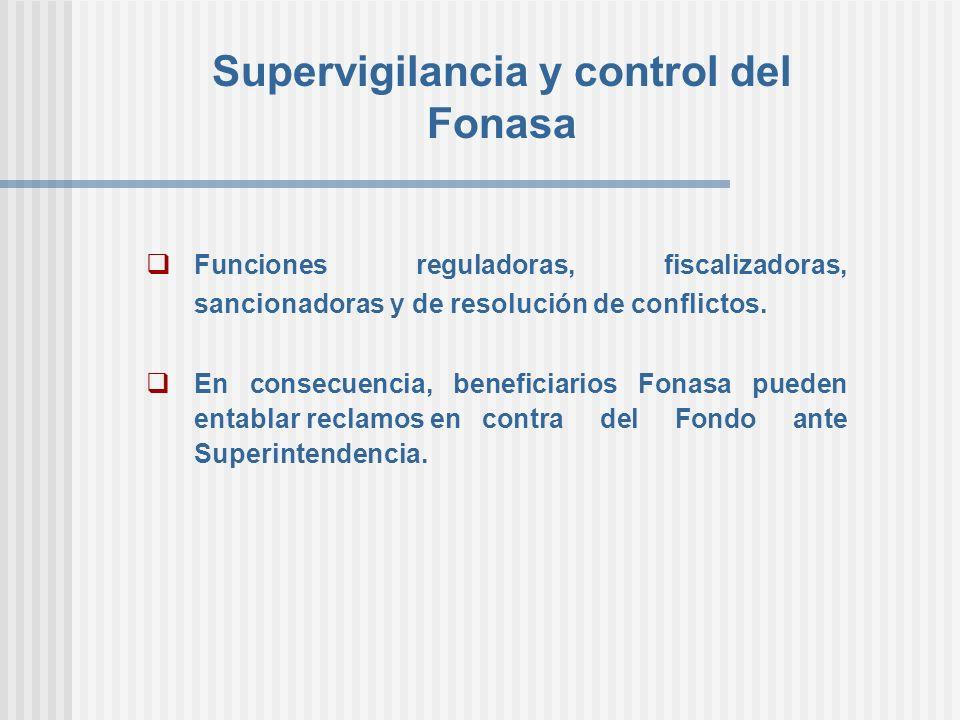 Supervigilancia y control del Fonasa