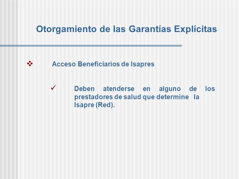 Otorgamiento de las Garantías Explícitas