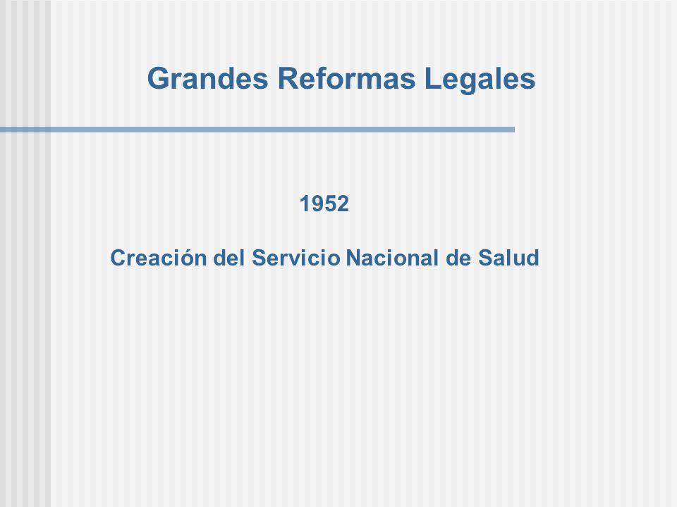 Grandes Reformas Legales Creación del Servicio Nacional de Salud