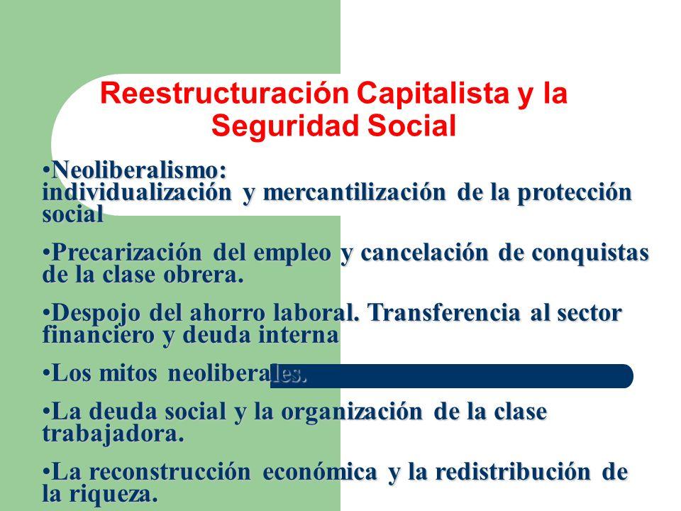 Reestructuración Capitalista y la Seguridad Social