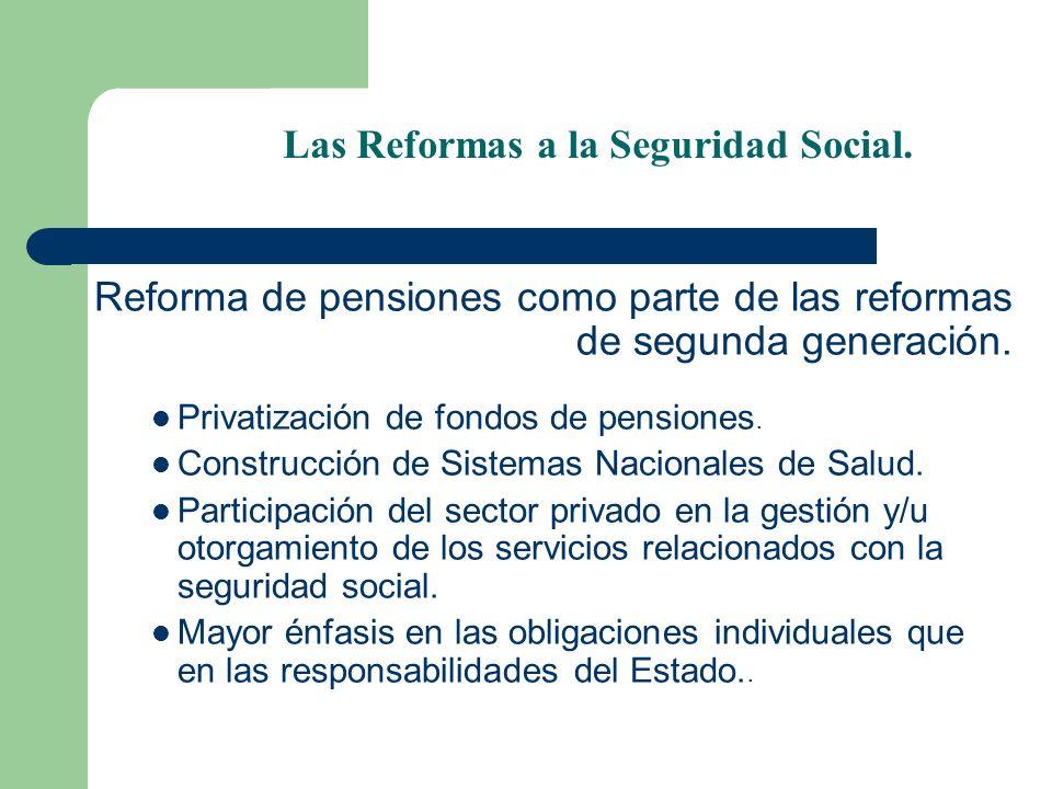 Las Reformas a la Seguridad Social.