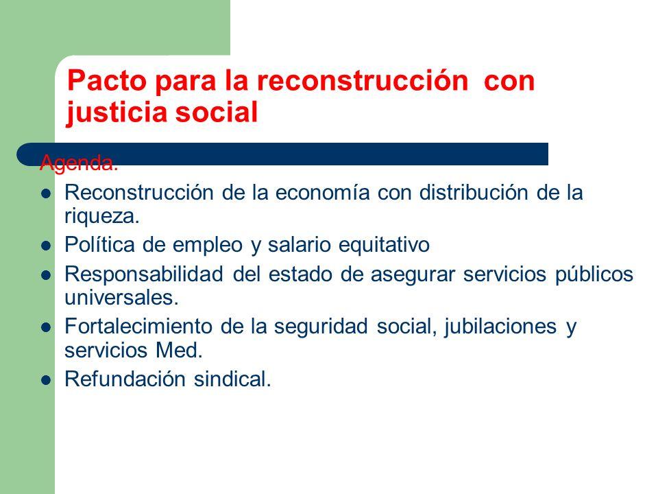 Pacto para la reconstrucción con justicia social
