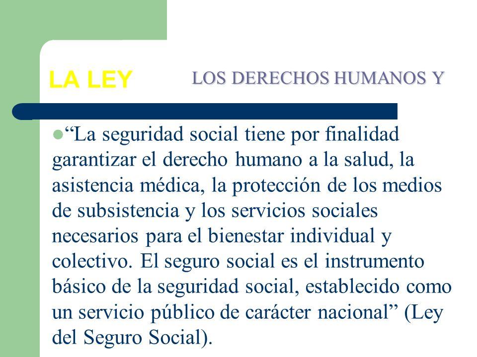 LA LEY LOS DERECHOS HUMANOS Y.