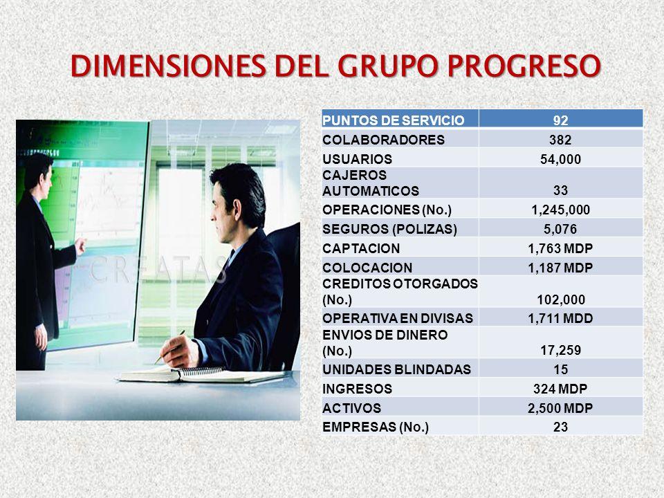 DIMENSIONES DEL GRUPO PROGRESO