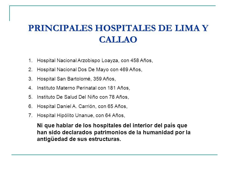 PRINCIPALES HOSPITALES DE LIMA Y CALLAO