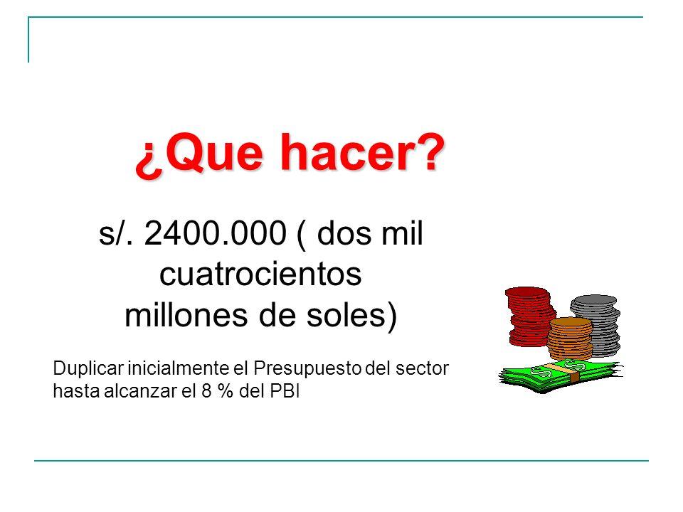 s/. 2400.000 ( dos mil cuatrocientos millones de soles)