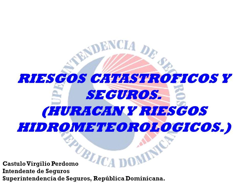 RIESGOS CATASTROFICOS Y SEGUROS.