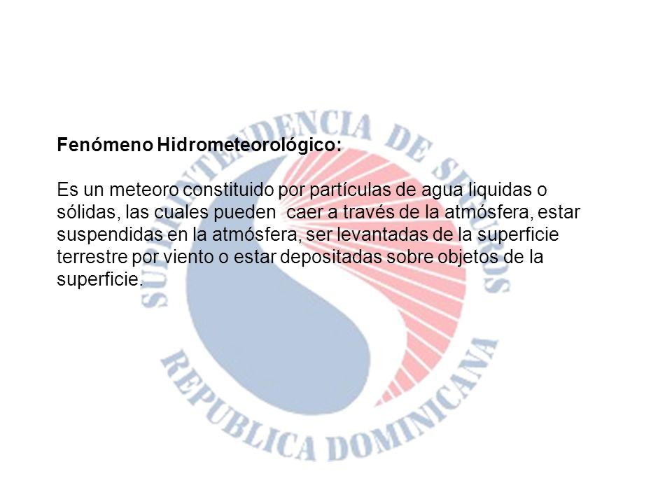 Fenómeno Hidrometeorológico: