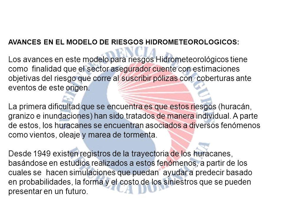 AVANCES EN EL MODELO DE RIESGOS HIDROMETEOROLOGICOS: