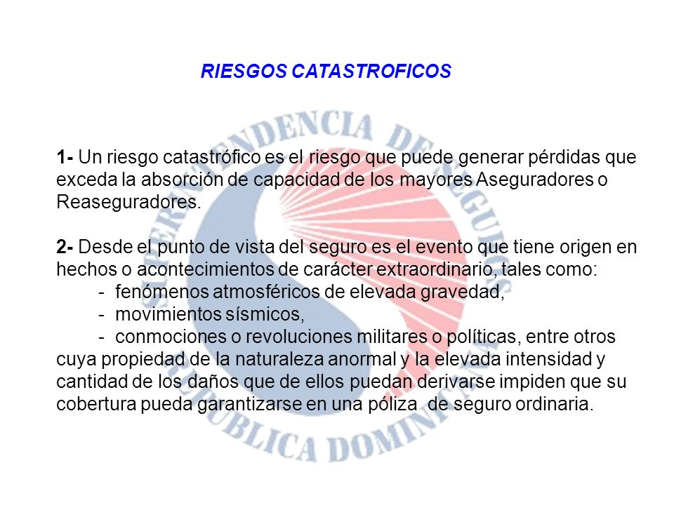 RIESGOS CATASTROFICOS